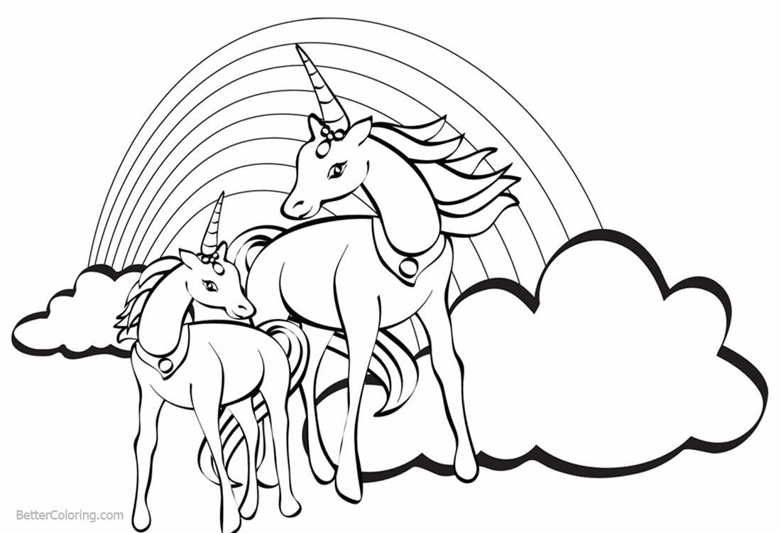 10 Unicorn Coloring Pages Rainbow in 2020 Unicorn