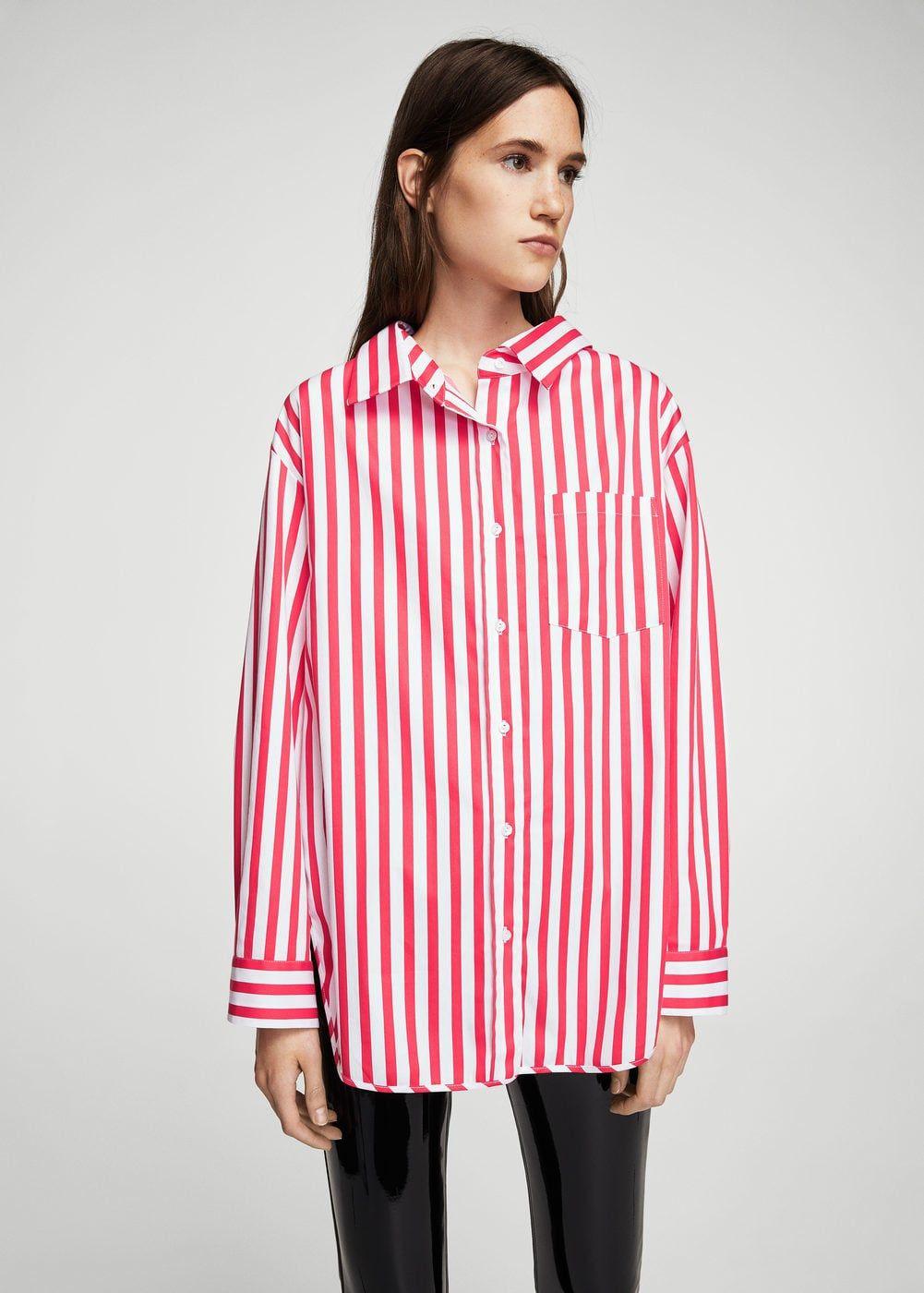 87ee9c58d50a Oversize striped shirt - Woman