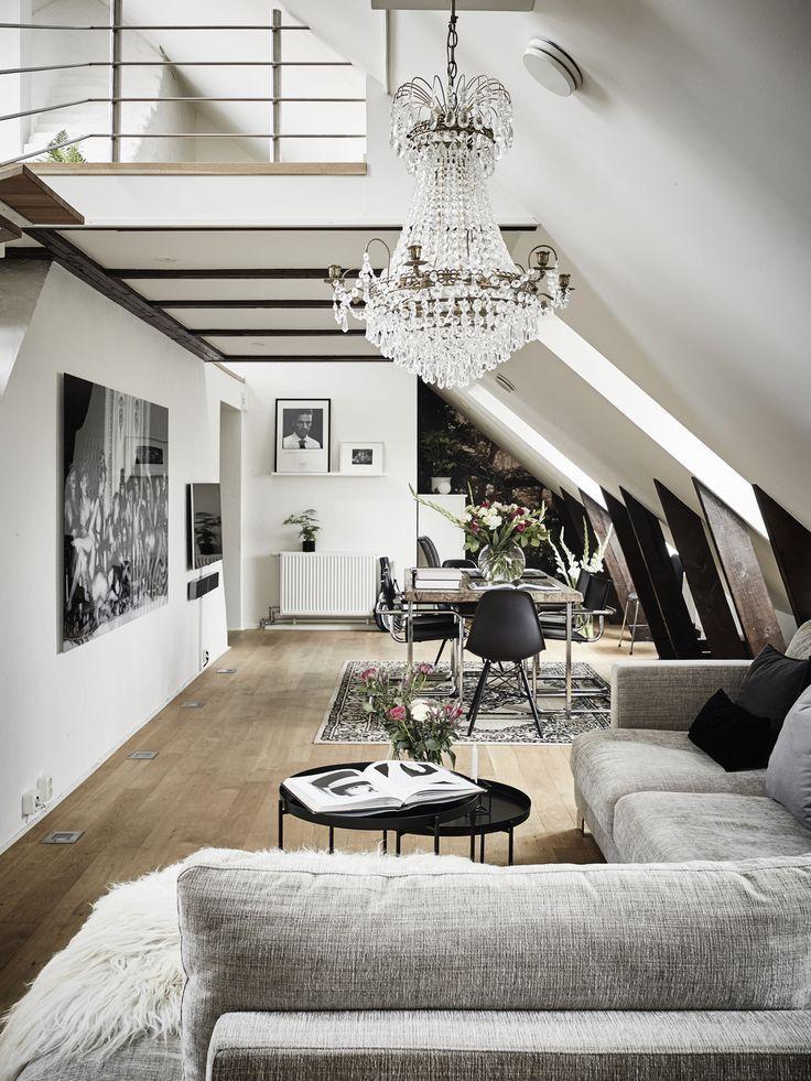 Une pi ce vivre la d co scandinave nordique - Appartement moderne russe inspiration nordique ...