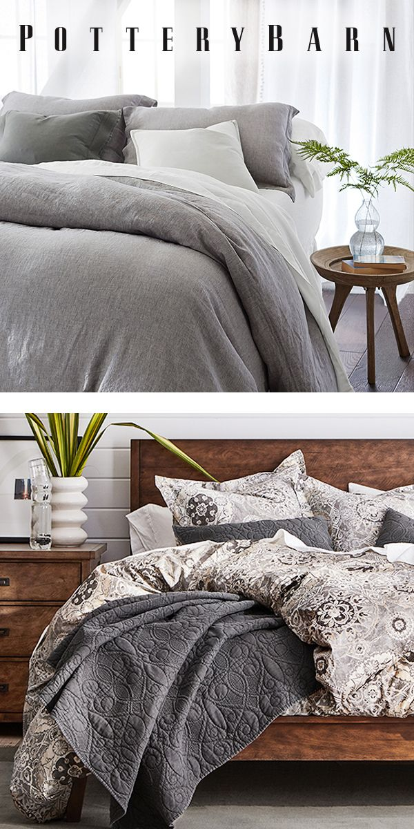 From organic cotton to luxe linen pottery barn has you covered shop our selection of quality sheets duvets comforters and more at potterybarn also ready dream up  new bedroom look rh pinterest