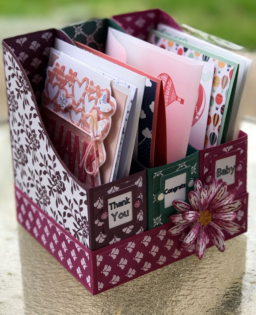 how to make a greeting card organizer book