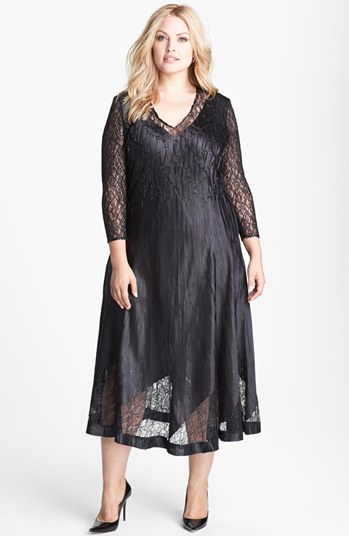 Komarov #Dresses #Komarov #Lace #Charmeuse #Dress #(Plus #Size ...