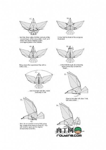 origami eagle 6 origami pinterest origami eagle and origami rh pinterest com origami eagle instructions origami eagle nguyen hung cuong diagram
