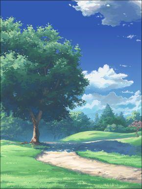 Park By Kyomu On Deviantart Anime Scenery Fantasy Landscape Scenery Wallpaper