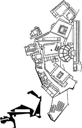 Plan Of Great Altar Of Zeus And Athena At Pergamon Asia Minor