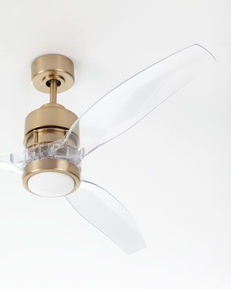 Vintage Home Decor Signs Sonet Satin Brass Ceiling Fan With Acrylic Blades At Neiman Marcus