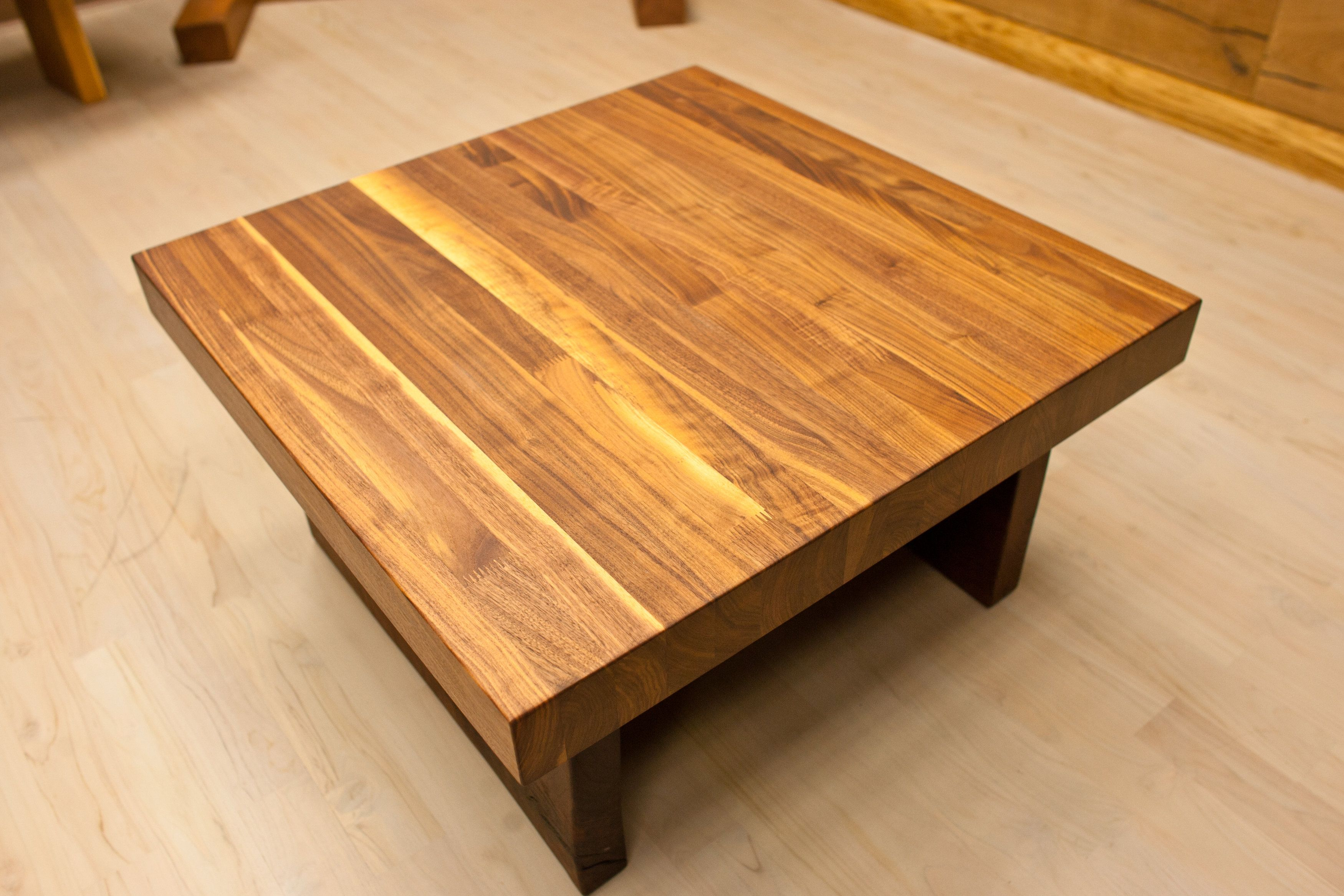 Great Cedar Unfinished Square Low Butcher Block Table As Inspiring