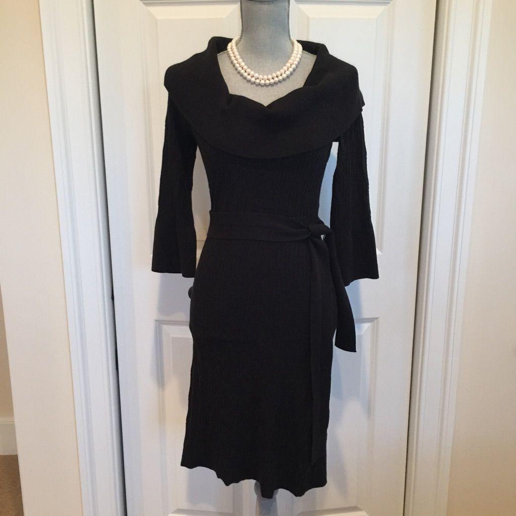 Black Sweater Dress. Size M