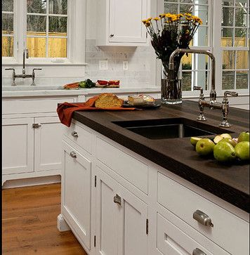 Wenge Wood Kitchen Countertop with Sink by Grothouse contemporary - kücheninsel auf rollen
