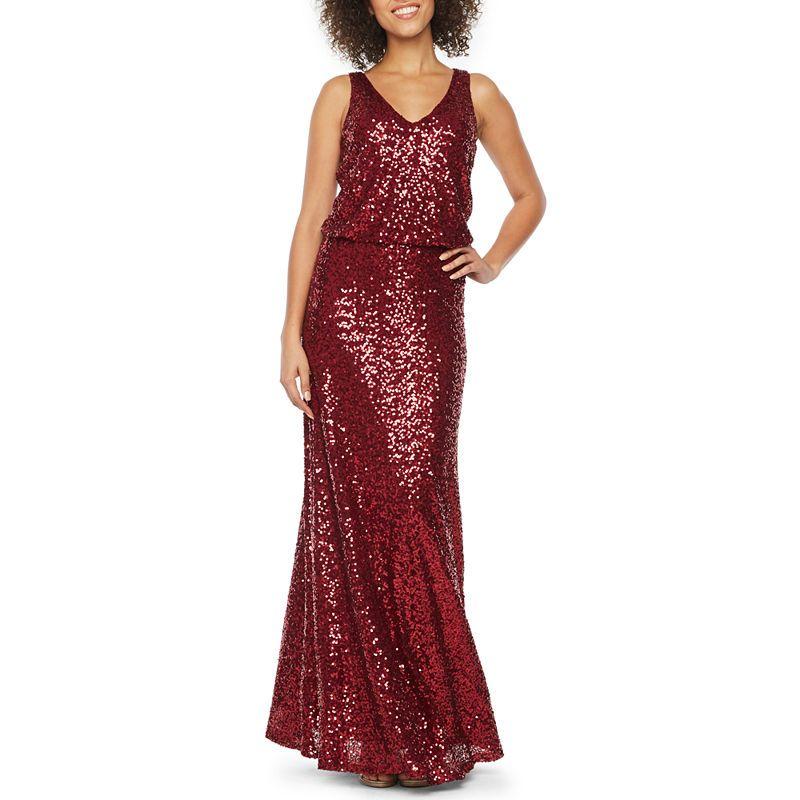 Blu Sage Sleeveless Sequin Evening Gown  923af1731