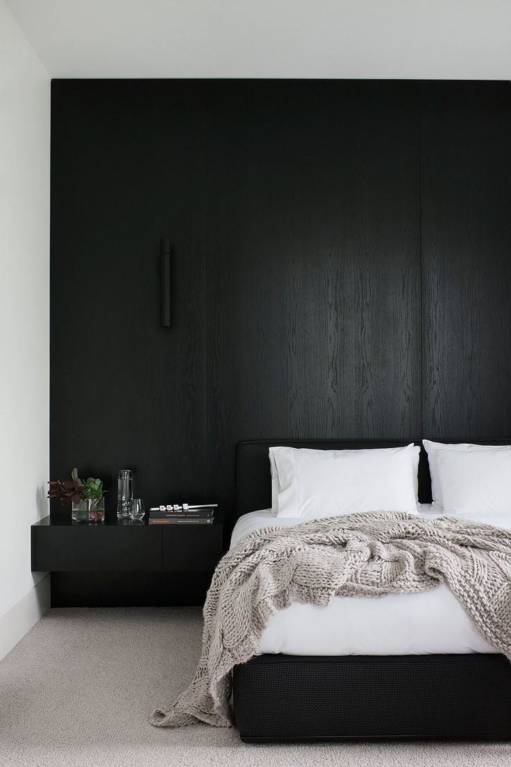 Black Bedroom love the black | bedroom | pinterest | big men, bedrooms and wood