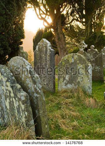 stock photo : Irish cemetery