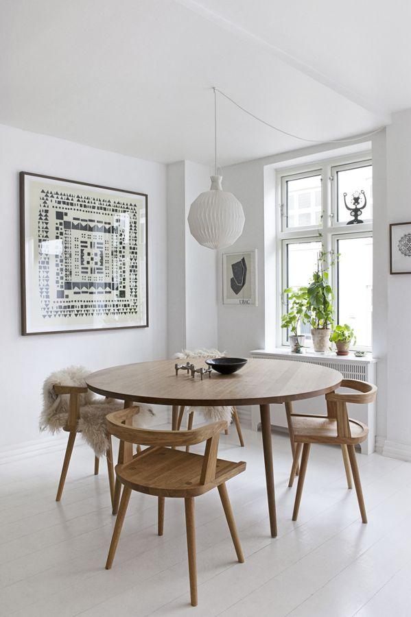 Resultado de imagen de mesa redonda comedor estilo nordico | Dine ...