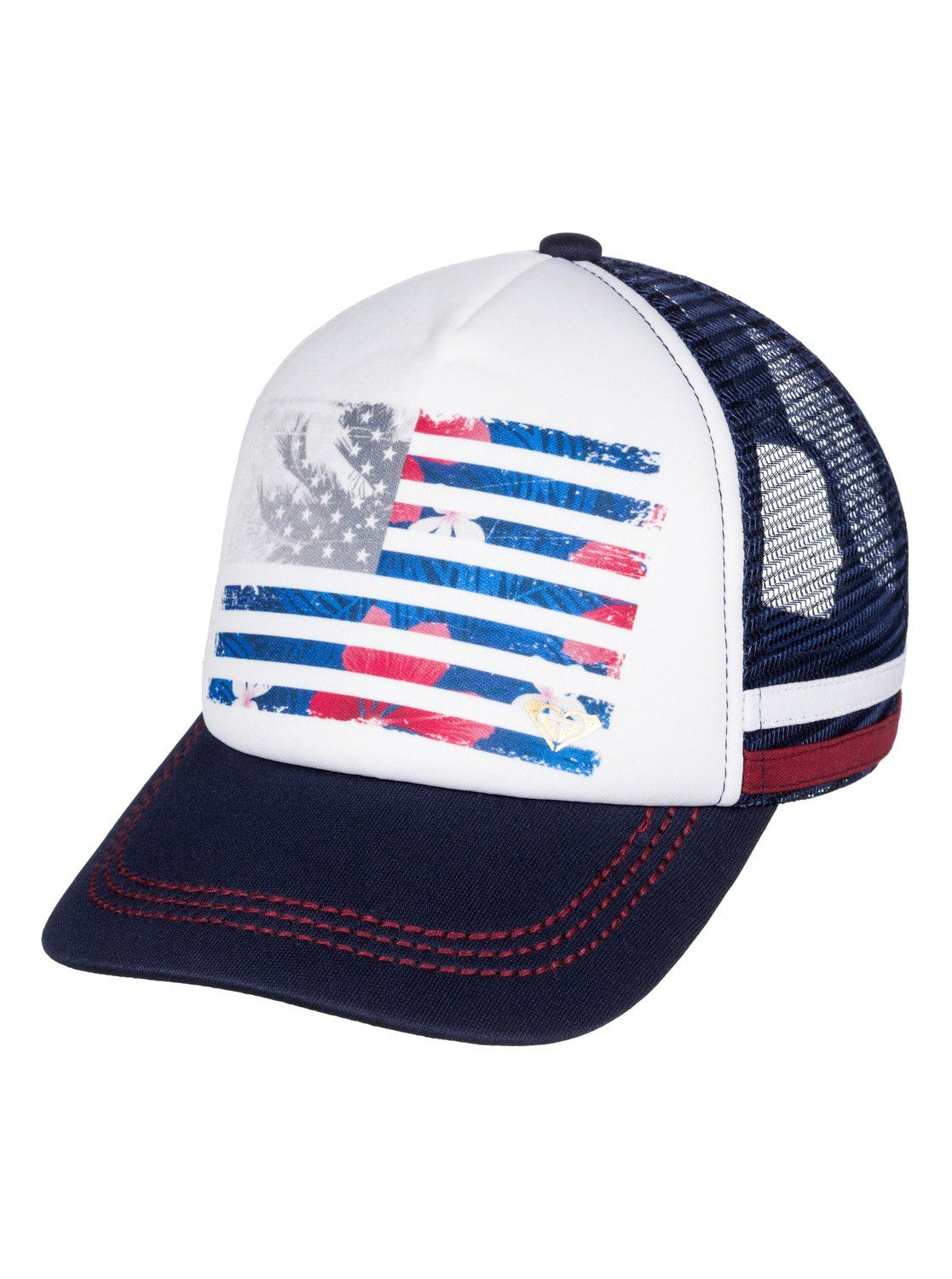 roxy, Dig This Paradise Flag Trucker Hat, ECLIPSE (btc0)