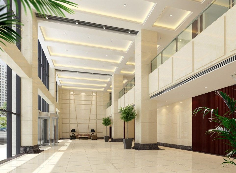 Business lobby design business office building lobby for Commercial office design ideas