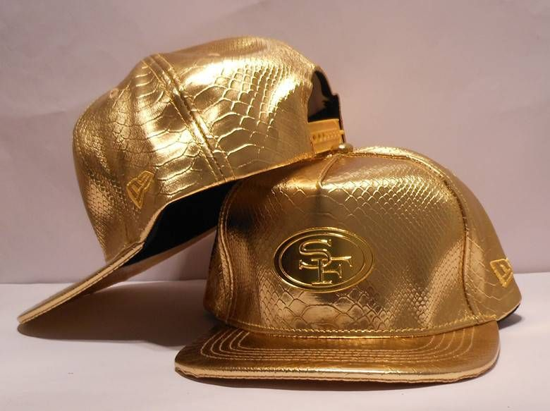 NFL Adjustable Hats San Francisco 49ers All Gold Snapback Hats ... d30cc60c399