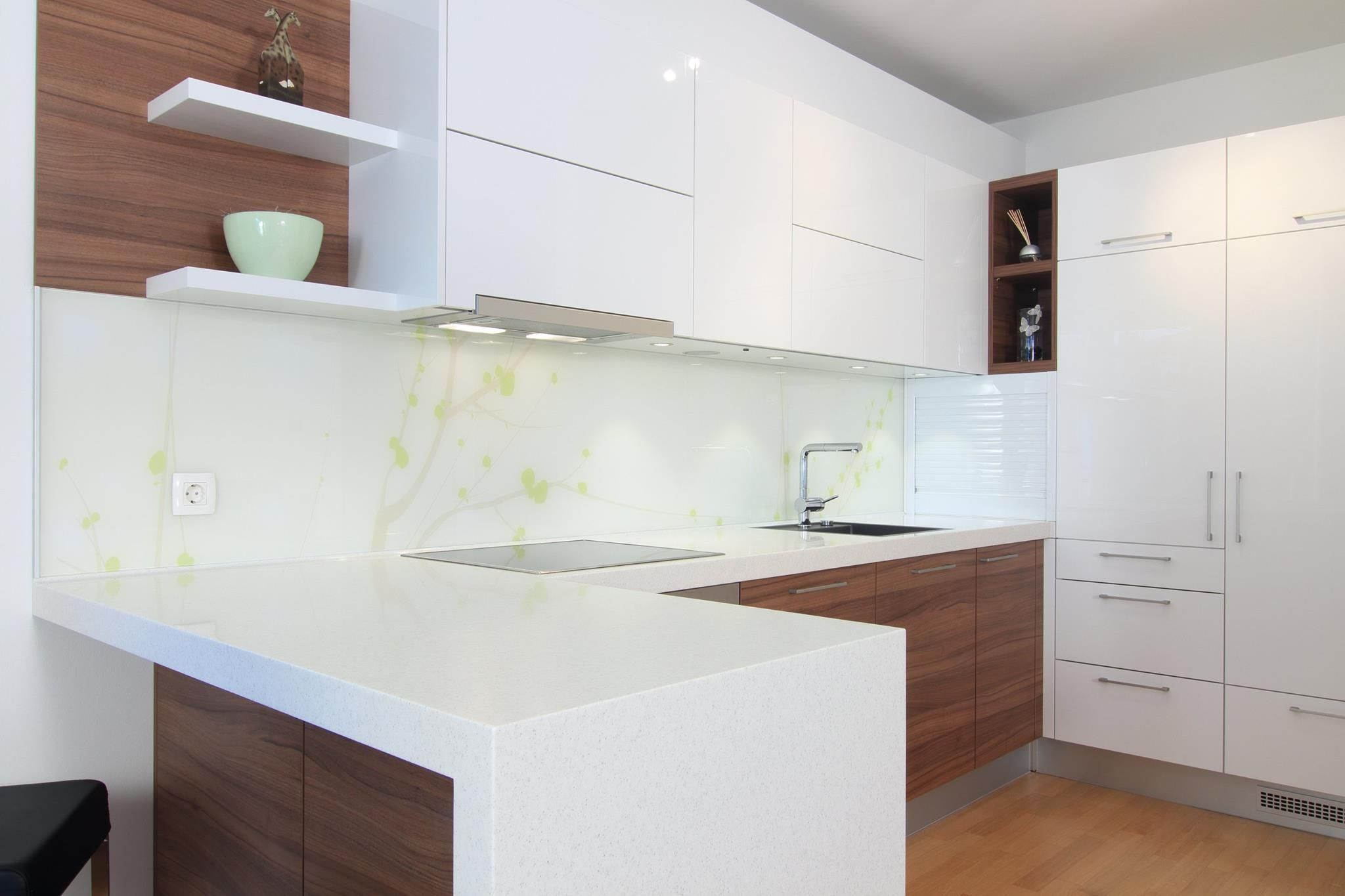 White Wood Texture Modern Kitchen Modern Kitchen Colours