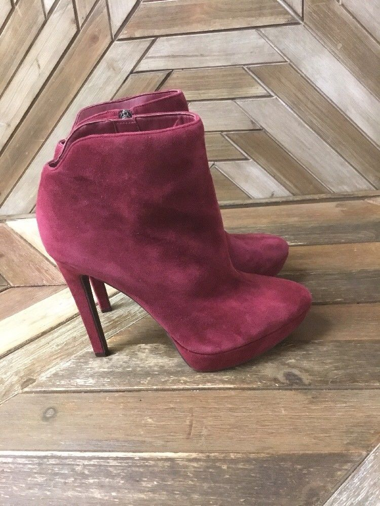 f437266ba28 Jessica Simpson Womens Zamia Suede Booties In Red Size 10M ...