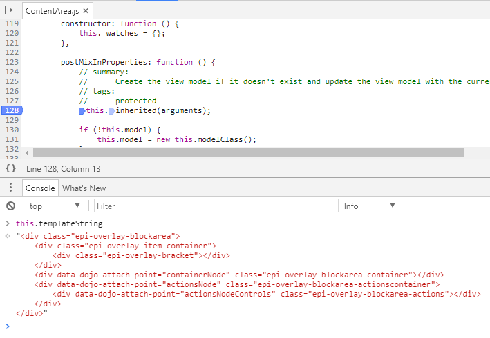 default ContentArea template