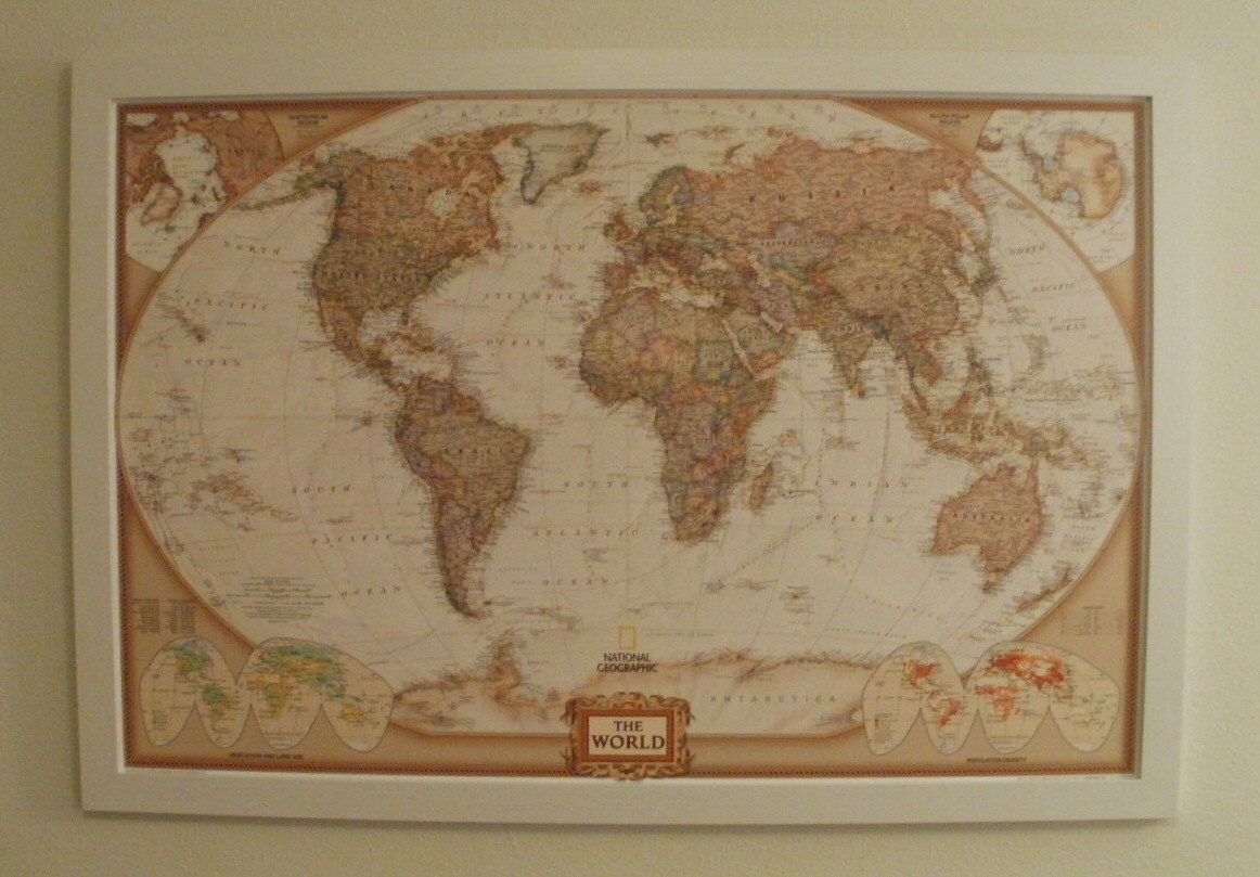 Framed united states mapusa mapframed usa push pin mappush pin world maplarge world mapframed world push pin mapframed push pin map world travel mapbrown tone 24x36 1 38 white frame ready to ship by gumiabroncs Images