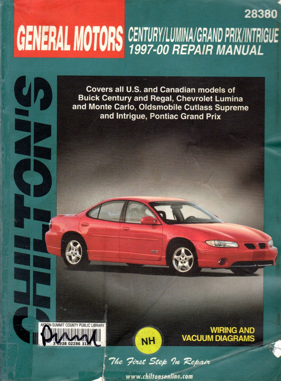 ManualsPRO - Chilton 28380 Manual GM Century Lumina Grand Prix and  Intrigue1997-00 https: