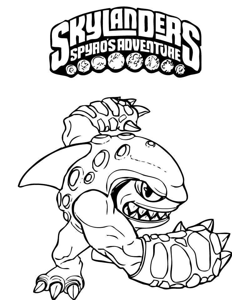 Skylanders Spyros Adventure Printable Coloring Book 4 | Printables ...