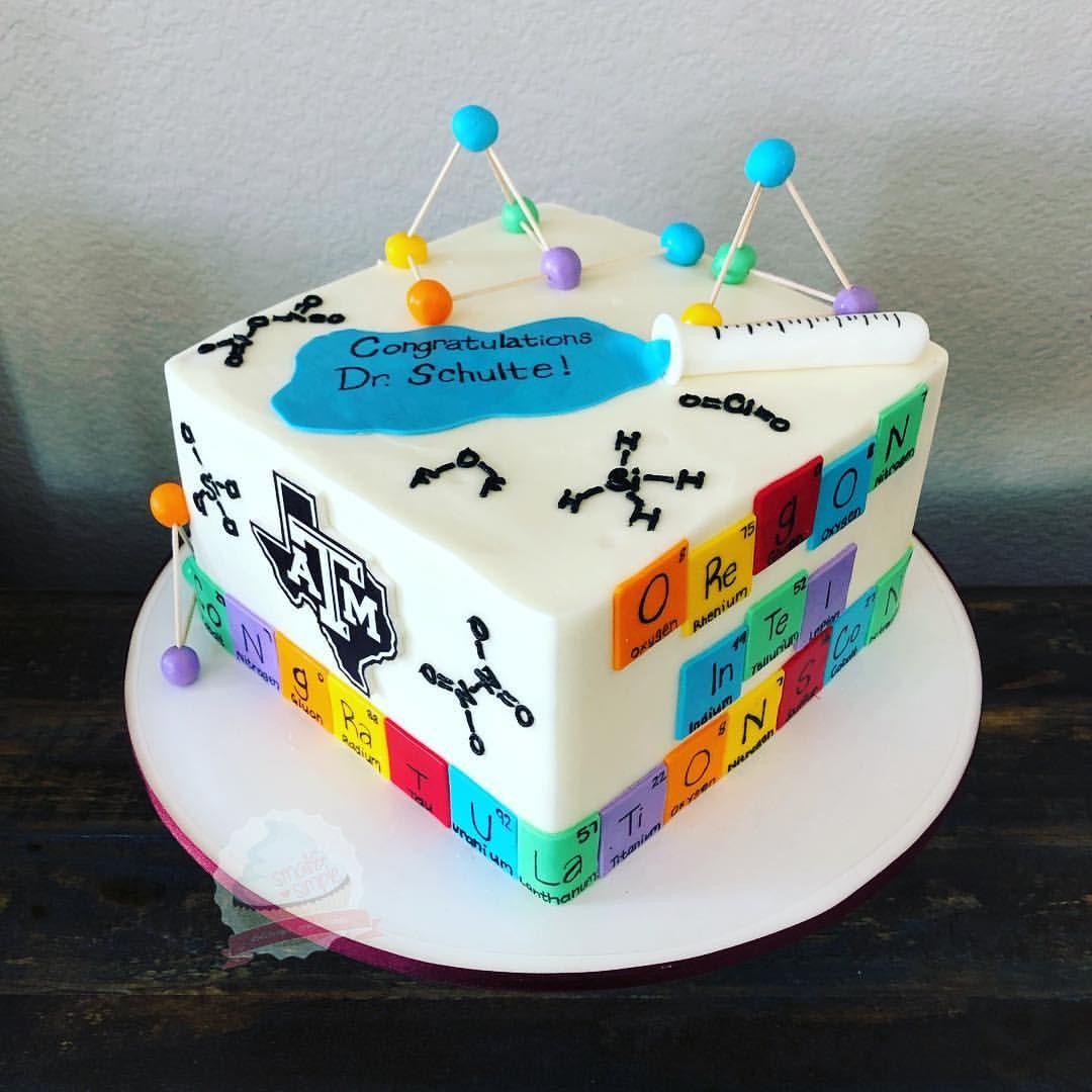 Tremendous Texas Am Inorganic Chemistry Graduation Cake Personalised Birthday Cards Beptaeletsinfo