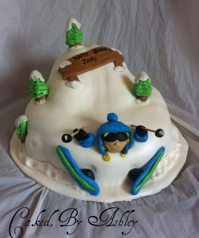 skiing cake By ashleydevine on CakeCentralcom Sugar High Sweets