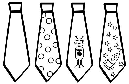 Dibujos de corbatas | CELEBRACIONES | Corbata para colorear, Dibujos ...