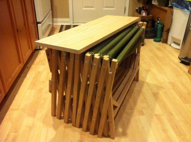 What a neat DIY concept! Picture of Folding Bed Bench (Hidden Cot)