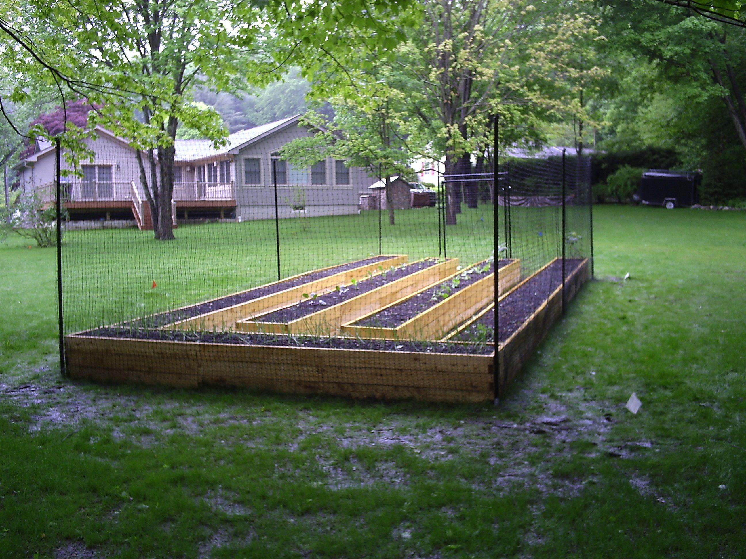A Good Example Of A 100 Fence Kit Surrounding Bed Areas Backyard Fences Cheap Garden Fencing Fenced Vegetable Garden
