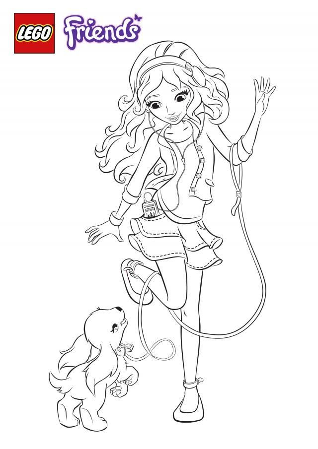 Lego Friends Girl Coloring Page Lego Coloring Pages Lego Coloring Lego Friends Party