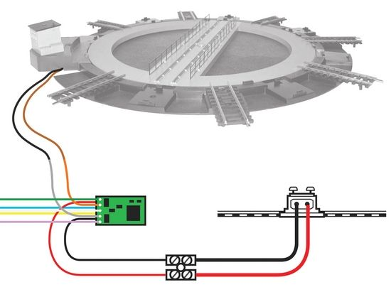 turntable wiring installation trains pinterest model train ho rh pinterest com