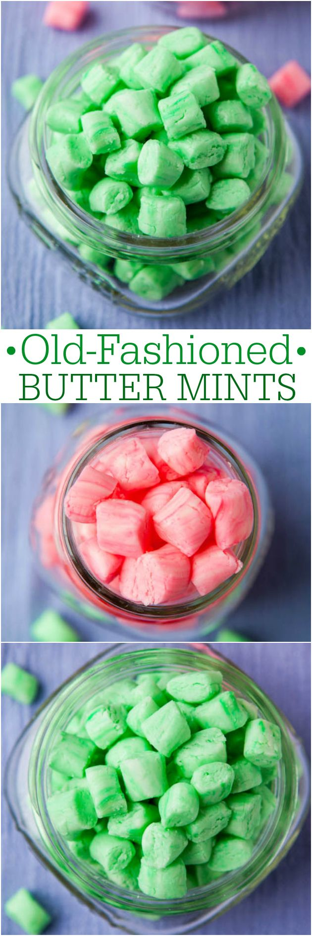Old-Fashioned Butter Mints - Easy, no-bakken recept voor romige, gladde pepermuntjes als je oma in haar pot snoep of dat je in een restaurant zou krijgen gehouden!