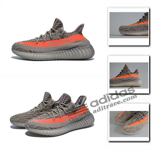 Adidas Yeezy Boost 350 V2 Classique Chaussure Homme Brun/Orange :aditrace