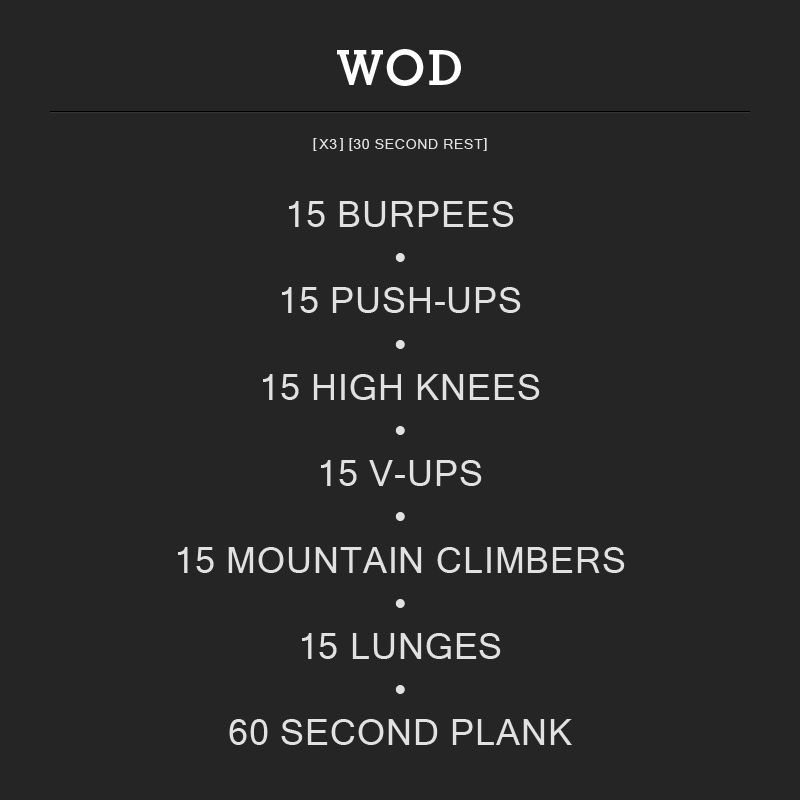 Crossfit Workouts: WOD Number 1. #WOD #crossfit