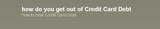 Identifying ways to repay charge card personal debt could feel impossible sometimes.