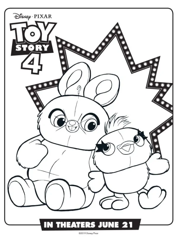 The Best Collection Of Free Disney Coloring Pages Toy Story Coloring Pages Free Disney Coloring Pages Bunny Coloring Pages