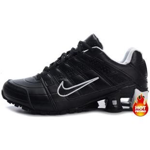 60bce21e569c http   www.asneakers4u.com Mens Nike Shox NZ 2 White Black Grey ...