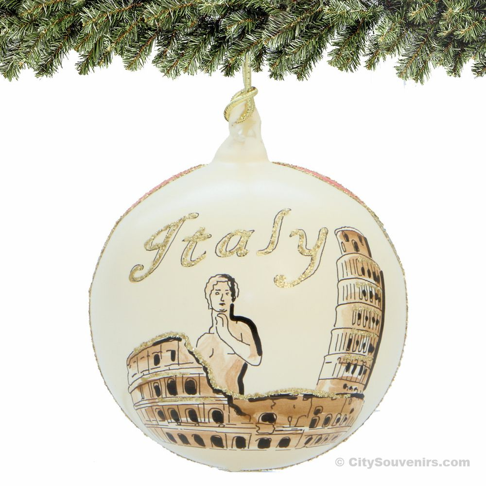 Italy Christmas Ornament - Glass Ball Bring the sights of Italy home ...