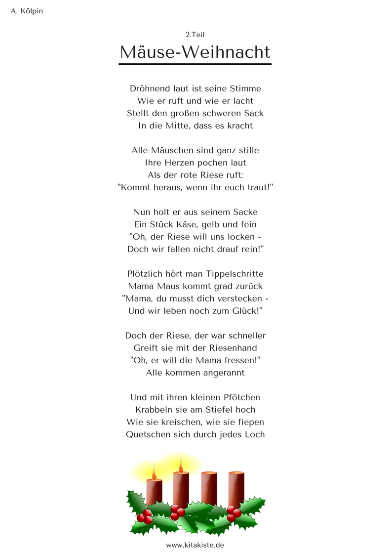 Weihnachtsgedichte Für Kinder Grundschule.Mäuse Weihnacht Weihnachtsgeschichte In 24 Strophen Ebook Für 1