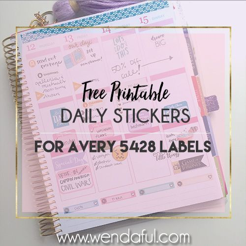 Free daily stickers avery 5428 template make your own