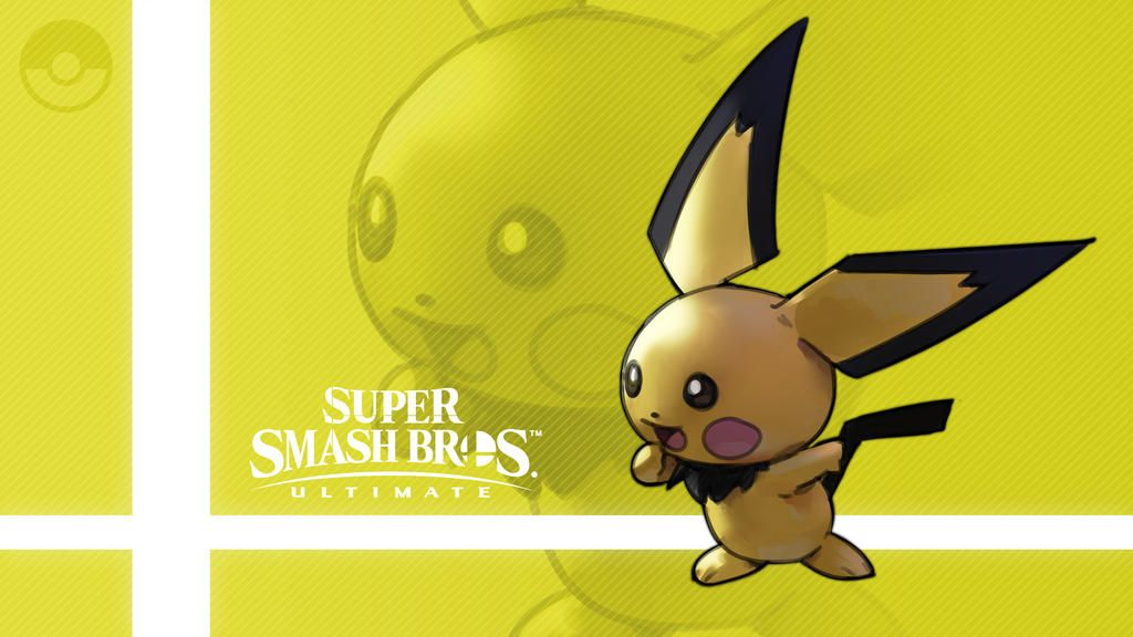 Super Smash Bros Ultimate Pichu By Https Www Deviantart Com Nin Mario64 On Deviantart Smash Bros Super Smash Bros Nintendo Super Smash Bros