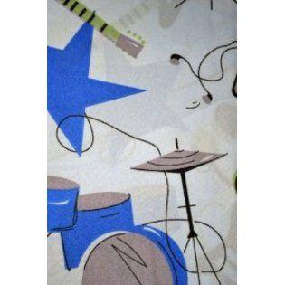 Dream Sleep Full 4 Piece Sheet Set Microfiber Rock Star