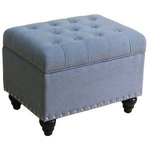 Blue Tufted Clothes Hamper Google Search Storage Ottoman Tufted Storage Ottoman Ottoman