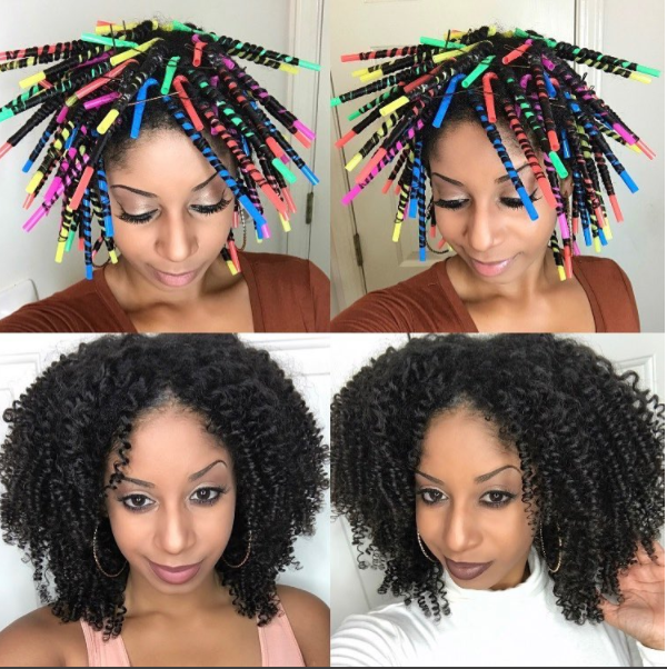 A Different Twist Using Straws To Set Your Hair Natural