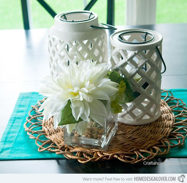 15 Small Dining Room Table Ideas Tips: 15 Lovely Table Centerpiece Ideas