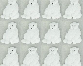 12 ours blanc boutons ~ Jesse James boutons - il habille ~ ours polaires