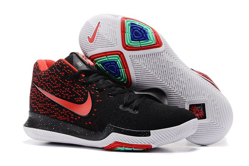 finest selection f202b 45f1d 2017 Cheap Nike Kyrie 3 Flyknit Black Red For Sale