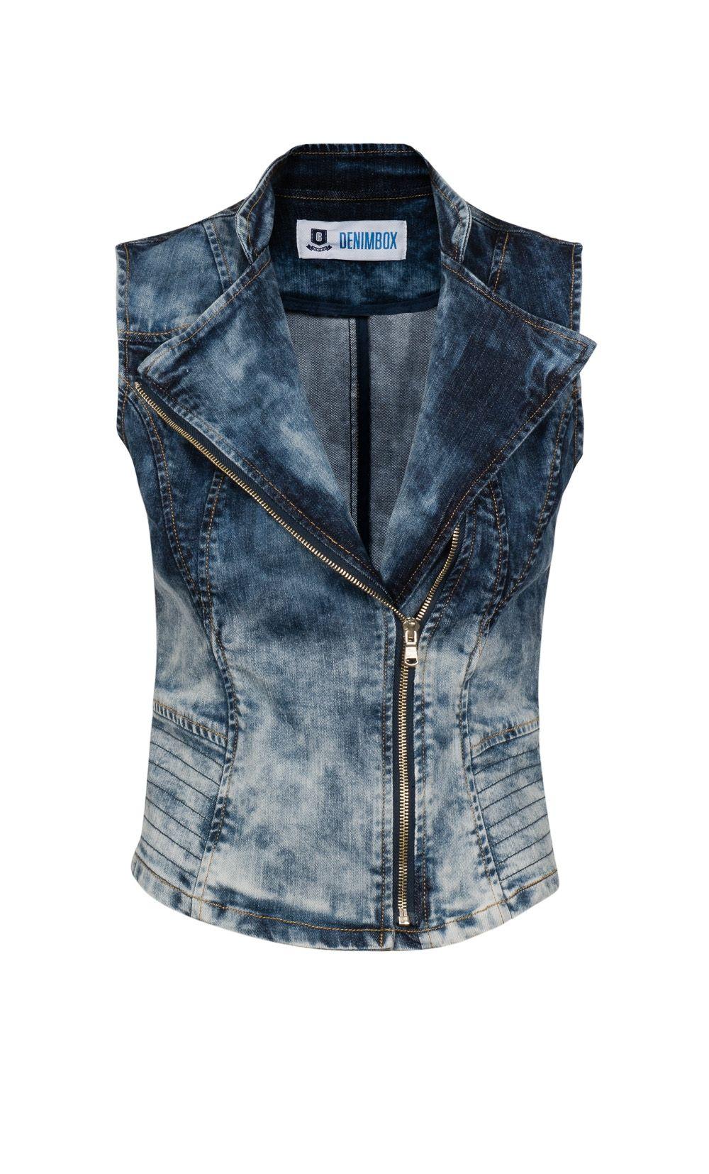 Kamizelka Jeansowa Ombre Denim Vest Fashion Jackets